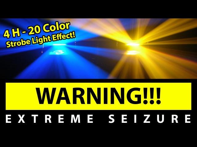 BEST 20 Color Strobe Light Effect [4H EXTREME SEIZURE WARNING] 1080P60