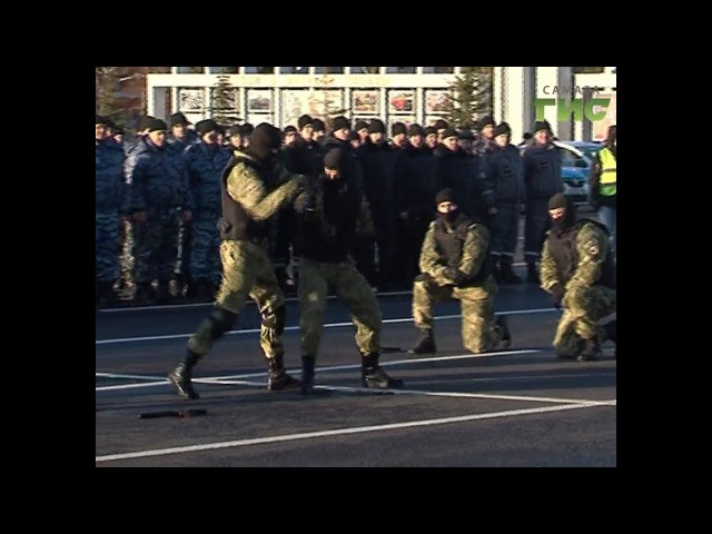 Сила и мощь самарской полиции. На площади Куйбышева прошел гарнизонный строевой...