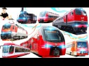 Железнодорожный транспорт 7 Частей подряд развивающие мультики для маленьких детей и малышей