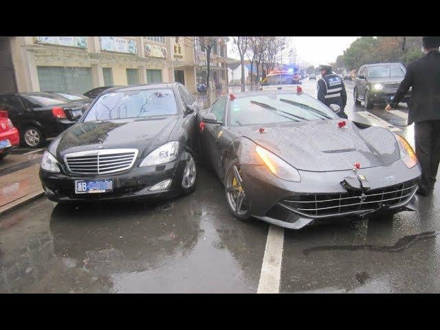 Идиоты за рулем дорогих автомобилей 2017 2