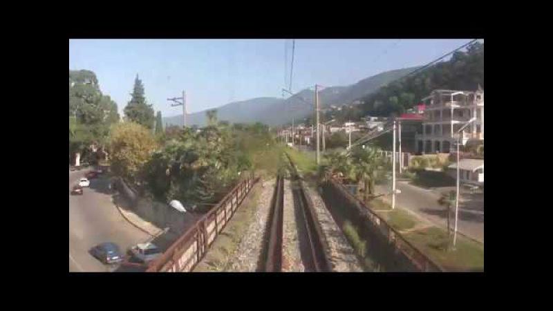 Из кабины ВЛ8-1162 (Гагра - тоннель 1250 м)