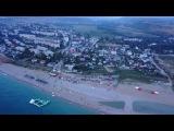 Пляж Любимовка с птичьего полета 2017 лето