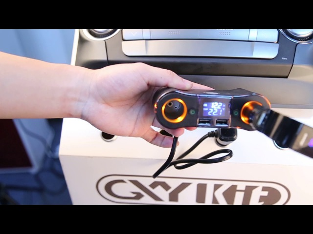 GXYKIT ZNB02 Car cigarette lighter 2 USB Port power button Car voltage voltage or current monitoring