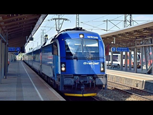 ČD railjet ve stanici Wiener Neustadt Hbf
