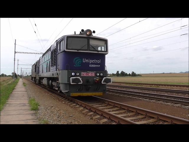 Šocení | Vlaky ve stanici Huštěnovice 14.7.2017