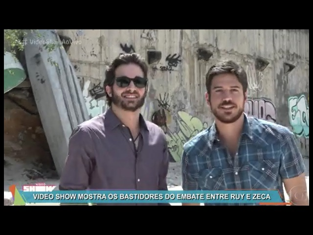 Ruy(Fiuk) atira em Zeca (Marco Pigossi) bastidores da gravação da novela Força do Querer