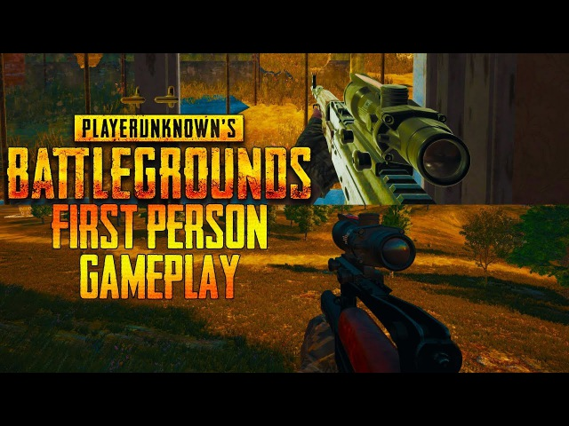 PLAYERUNKNOWN'S BATTLEGROUNDS First Person Mode W/ Groza