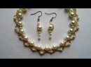 Wedding jewelry and seed beads necklace and earrings