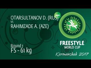 Round 1 FS - 61 kg: A. RAHIMZADE (AZE) df. D. OTARSULTANOV (RUS), 6-6