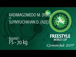 Round 1 FS - 70 kg: M. KADIMAGOMEDO (RUS) df. D. SUYNYUCHKHAN (AZE), 10-6