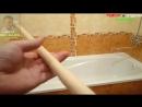 Установка карниза для шторы в ванной комнате своими руками