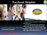 For Instant Solution, contact1-844-347-4009 Facebook Help