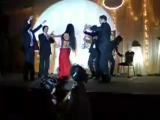belly dancer dancing on wedding party 8967