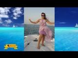 Beautiful girl boat Oriental plays