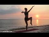 Вечерняя йога для начинающих Вдохновение морем _ Yoga for beginners