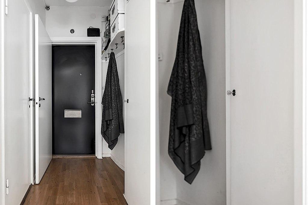 Скандинавский интерьер квартиры-студии 26 м.