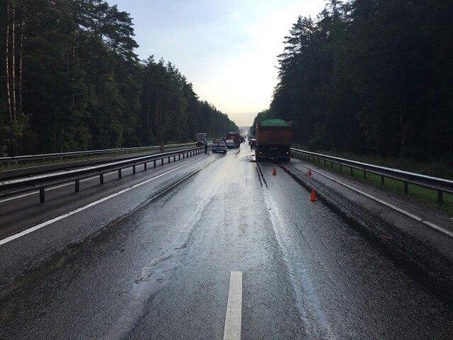 Под Калугой вДТП смикроавтобусом и грузовым автомобилем погибли три человека