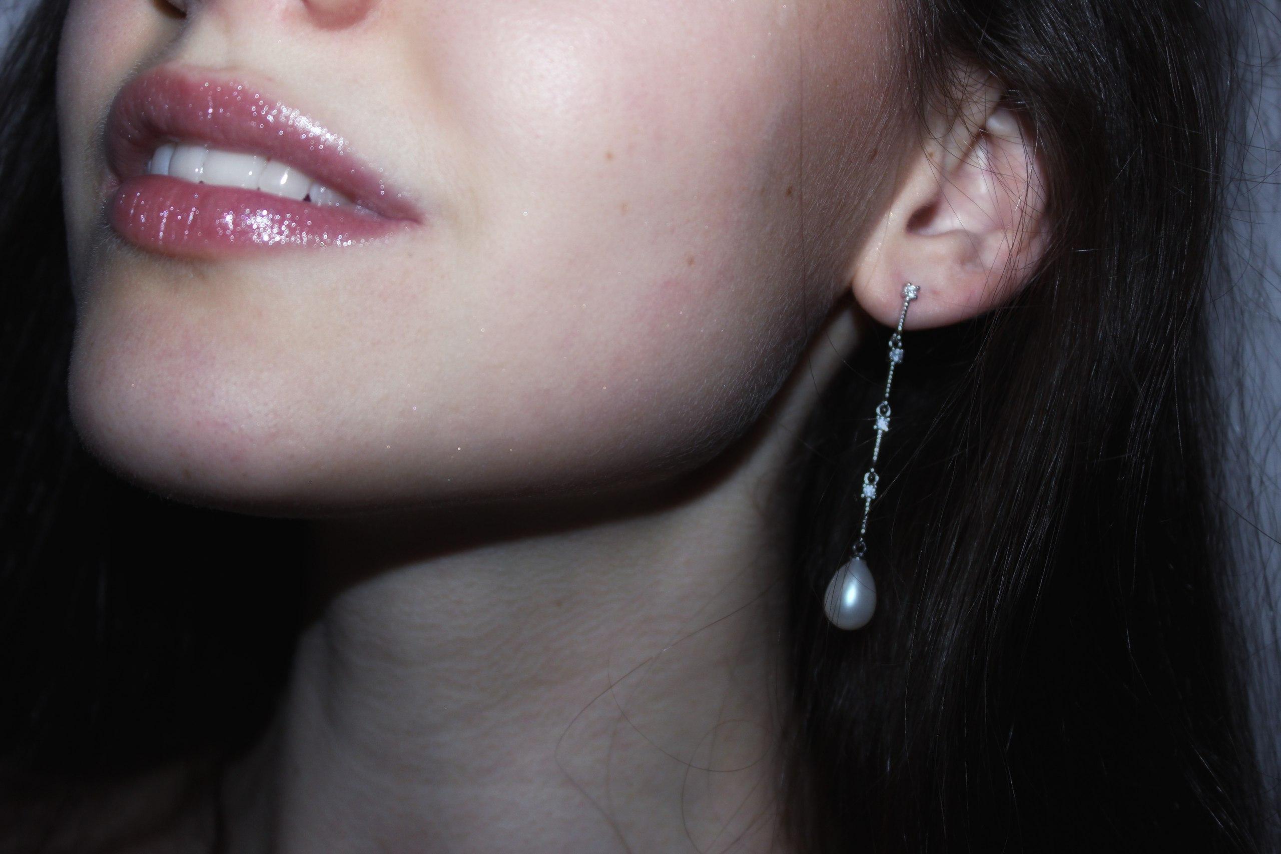 Ну очень женственные красивые и утончнные серьги висюльки из серебра 925 silver earring с речным жемчугом