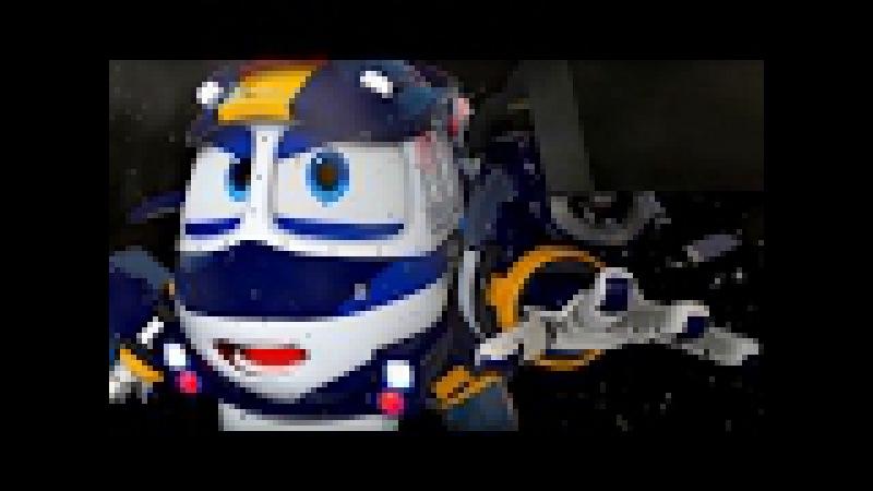 Мультфильм для детей про паровозики – Роботы-поезда 🚄 🤖– Временной тоннель!–...