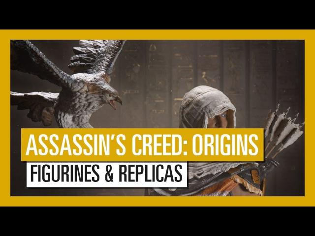 Merchandise - Assassin's Creed Origins (Aya Figurine, Bayek Protector Of Egypt Figurine, Hidden Blade, Apple of Eden Figure)