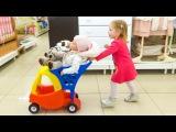 ВЛОГ Кукла Катя в детском магазине Настя КАК МАМА покупает новые игрушки для Baby d...