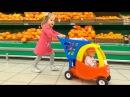Кукла Беби Бон в супермаркете Настя КАК МАМА покупает новые игрушки и продукты д...