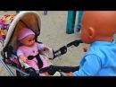 Кукла плачет. БЕБИ БОН ОБИДЕЛ КУКЛУ. КУКЛЫ НА ПРОГУЛКЕ Новая серия видео Куклы Б ...