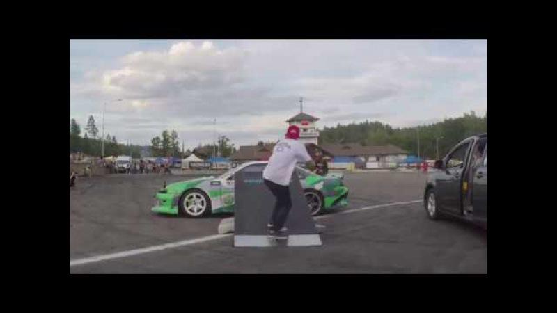 Ollie over the car. Drift Logoisk 24.07.17 Vadik Romantsov .