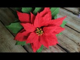 ABC TV How To Make Poinsettia Paper Flower From Crepe Paper - Craft Tutorial