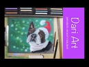 Рисуем новогоднюю собачку! Французский бульдог сухой пастелью! Dari_Art