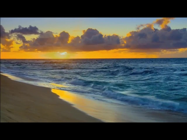 HAWAII BEACHES HD Sunset Beach Relaxation Scene Ocean Waves Sounds Relaxing Video Scenes Sea Noises · coub, коуб