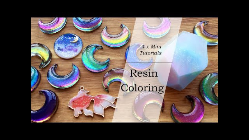 Mini Resin Tutorials Resin Coloring Color Shifting Pearlescent Colored UV Resin Clear Film