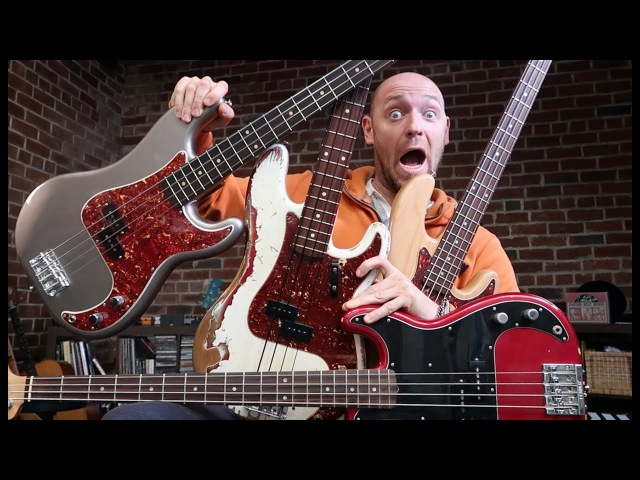 4 Precision Basses... that'll ROCK your world