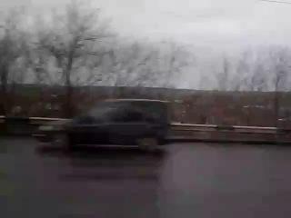 Едем через реку Томь г.Кемерово на машине скорой помощи