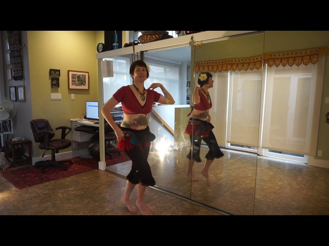 Tribal Belly Dance Drill - Arabic Hip Twist and Turkish Shimmy
