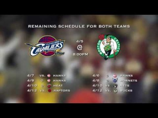 Cleveland Cavaliers and Boston Celtics fighting for the No1 Eastern Conference | 05.04.2017