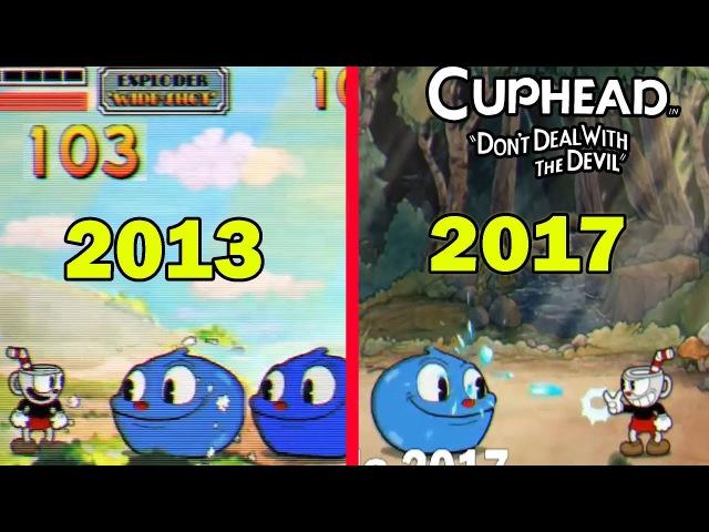 Cuphead 2013 vs 2017 Gráficos Comparación Antes y Después
