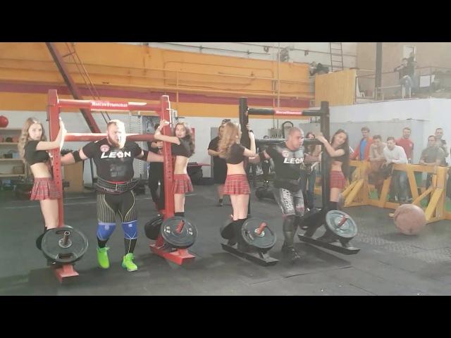 Москоу Стронгмэн Силачи и группа черлидинга Red Fox Show Cheer Dance Часть четвёртая