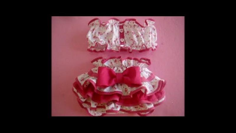 Diy como fazer calcinha de babado infantil de Rn a 2 anos