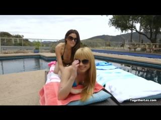 Lesbians sunbath _ kiss