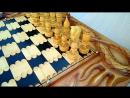 Нарды шахматы резные ручной работы Дракон