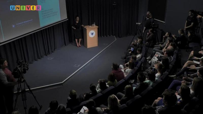 Тина Канделаки в TV ShowRoom Высшей школы журналистики и медиакоммуникаций КФУ