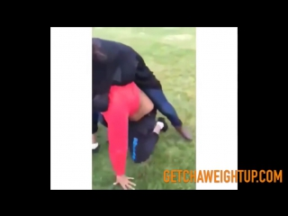 One on one female fight ends with a bottle being smashed to the head!