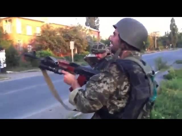 Развлечение укрофашистов - расстрел школы в Лутугино. 03.11.2014
