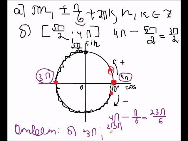 Тригонометрия Отбор корней на отрезке