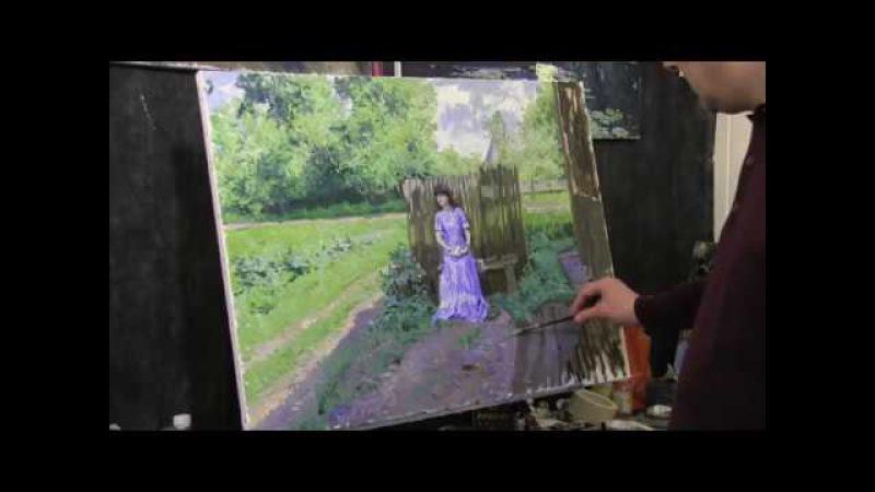 Приемы Камиля Писсарро,2 часть, импрессионизм, работа с фотоматериала, художник Артём Пучков