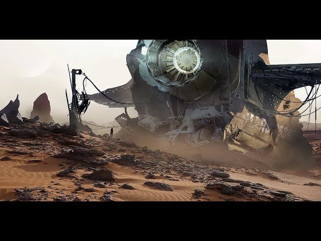 Digital Matte Painting - Crashed Ship
