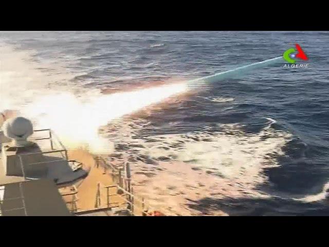 Gaïd Salah supervise un exercice naval de tir avec missile surface-surface à Oran