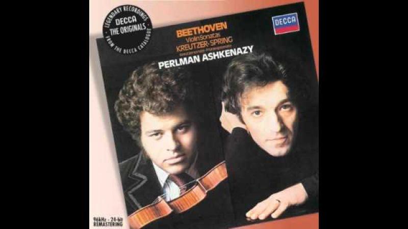 Beethoven violin sonata No 9 Kreutzer Mvt 2 part 1 (2/4) Perlman