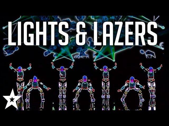 MOST AMAZING Lights Lazers Shows on Got Talent Got Talent Global